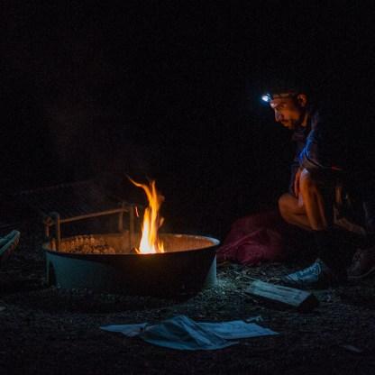 Faire du feu au camping