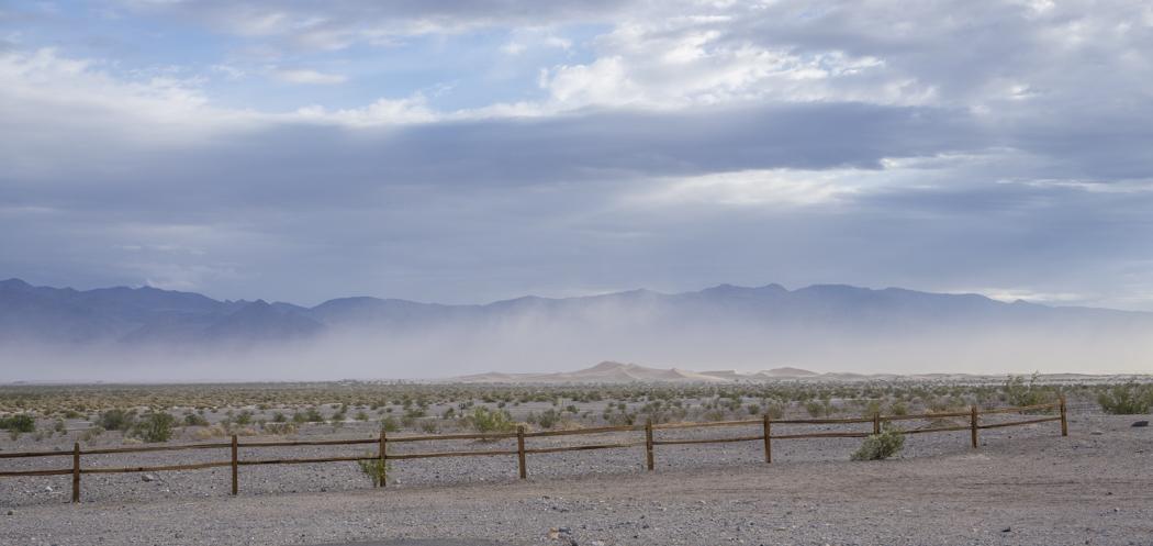 death valley california - tempête de sable