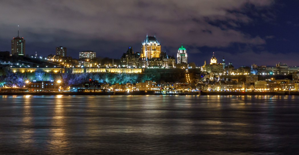 Visite de la ville de Quebec - vue de nuit