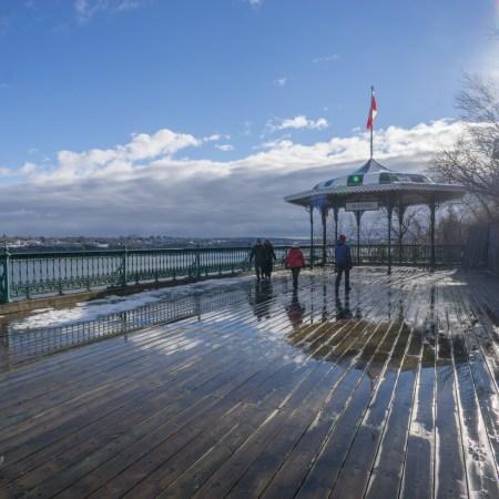 Visite de la ville de Quebec - terrasse Dufferin du Château Frontenac
