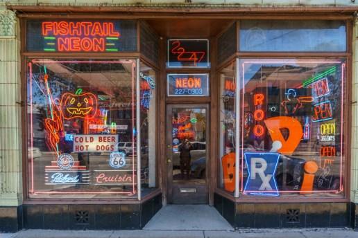 Visiter Chicago - boutique de neons