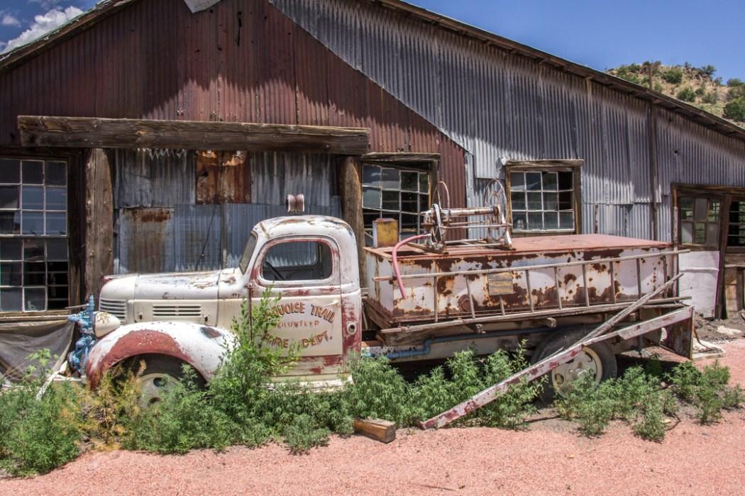 LA route de la turquoise nouveau mexique musee vieux camion