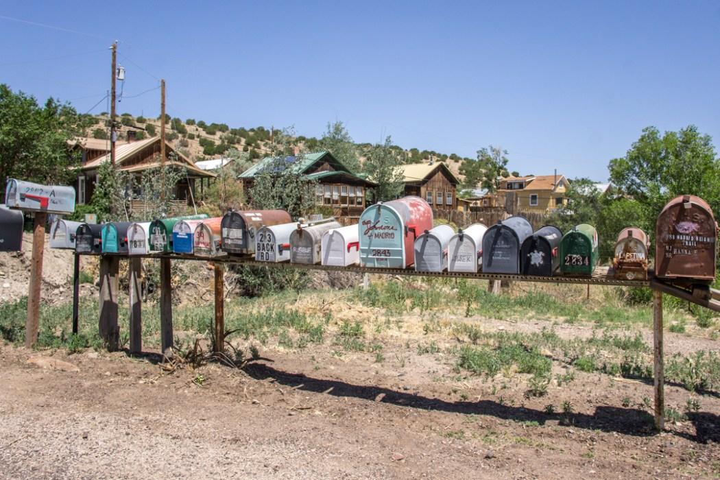 LA route de la turquoise nouveau mexique boite aux lettres
