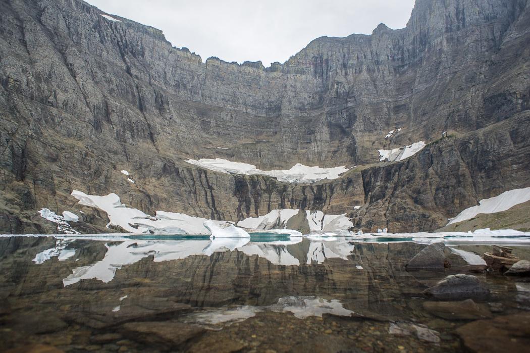 Glacier national park iceberg lake Montana