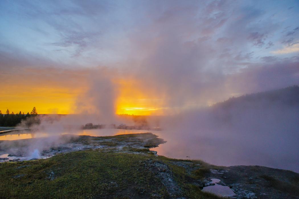 Coucher de soleil Yellowstone