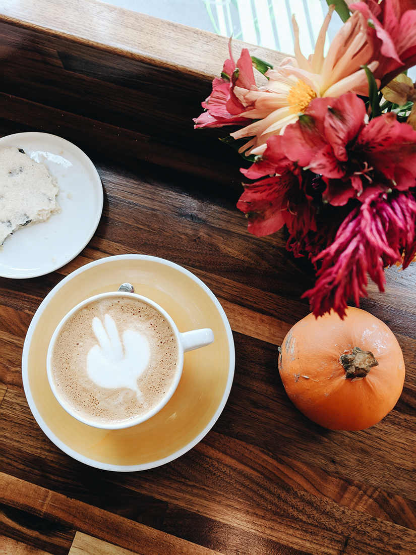 Pumpkin and a latte