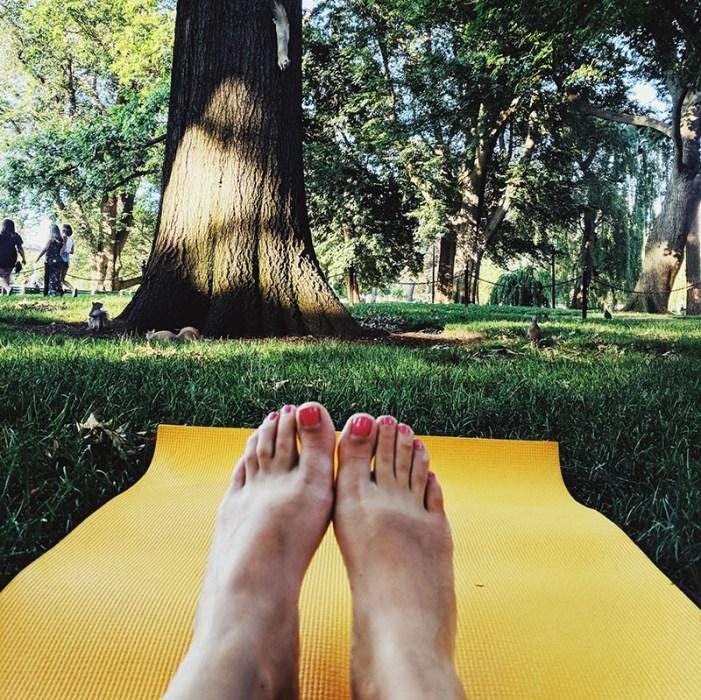 yoga dehors