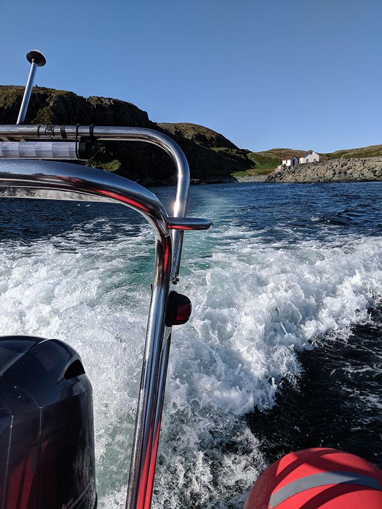 Depart en bateau de quirpon island