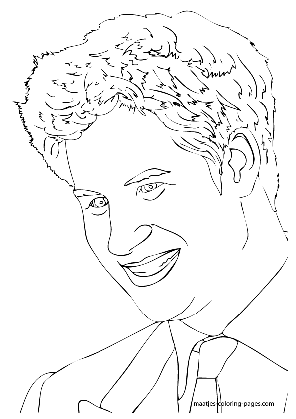 prince harry coloring pages