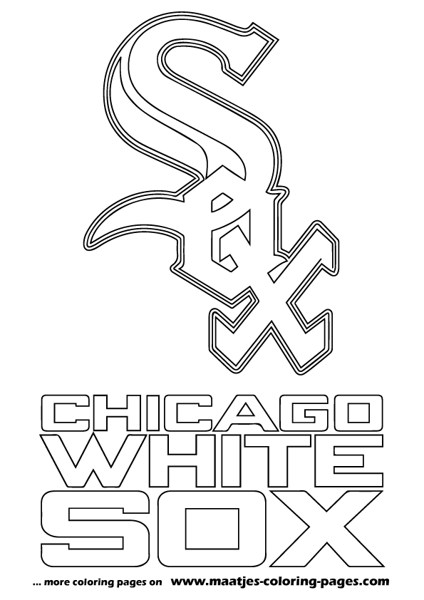 mlb chicago white sox logo coloring pages