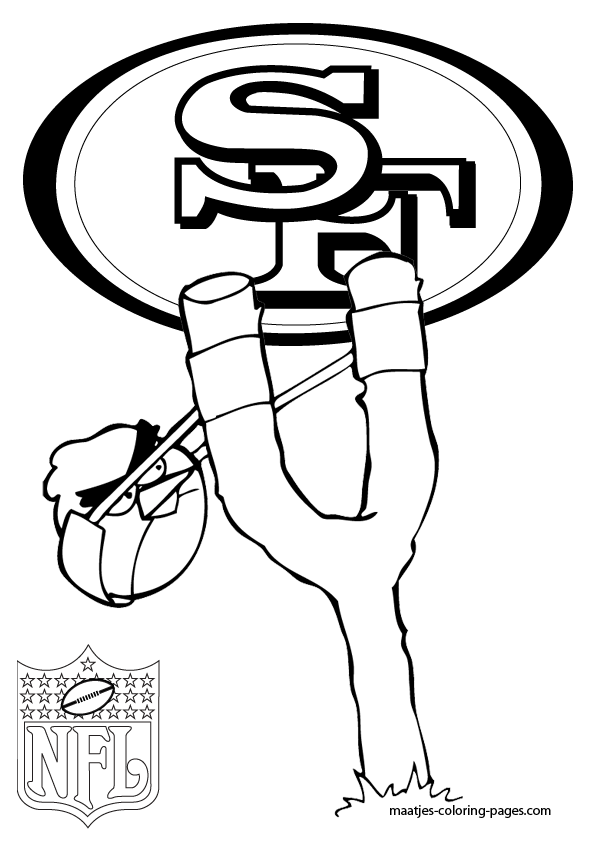 san francisco 49ers  angry birds  coloring pages