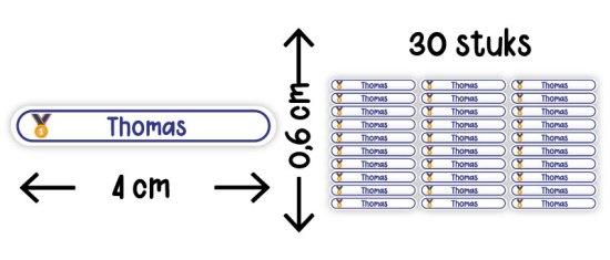 mini naamstickers rond illustratie formaat aantal