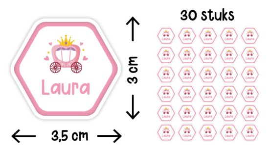 stickers zeshoek liggend illustratie formaat aantal