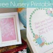 Free Nursery Printables by Crafty Cupboard | Mabey She Made It #nestingtonewborns #freeprintable #nursery