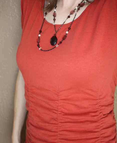 Ruched T-shirt Refashion | Mabey She Made It | #refashion #tshirt #ruching
