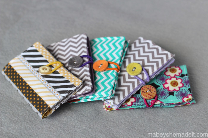 Business Card Holders   Mabey She Made It #sewing #businesscardholder #fabriclabel