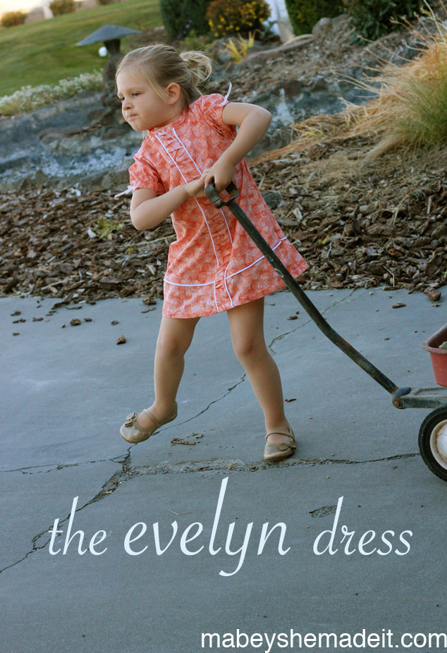 Evelyn Dress by Peek-A-Boo Patterns | Mabey She Made It #kidsclothesweek #sewingforkids