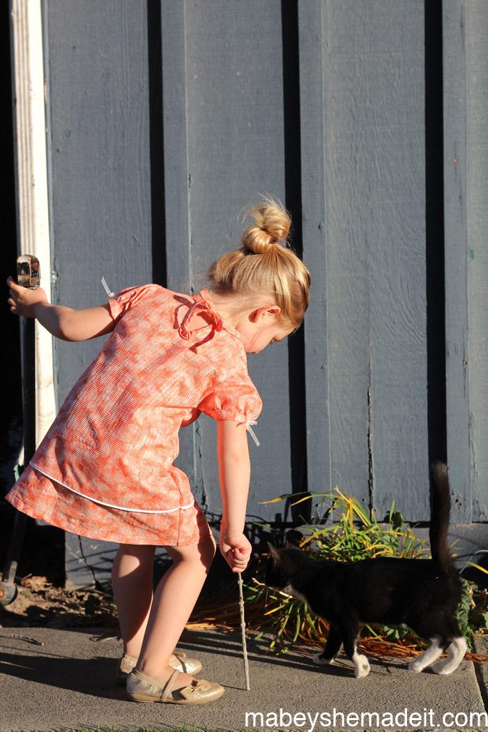 Evelyn Dress by Peek-A-Boo Patterns | Mabey She Made It #kidsclothesweek #sewingforkids