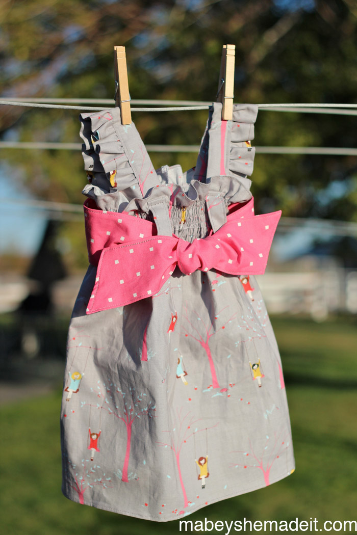 Ava Dress |Mabey She Made It #kidsclothesweek #sewingforkids