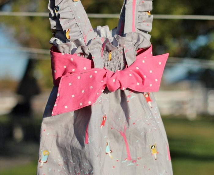 Ava Dress |Mabey She Made It #kidsclothesweek #sewingforkids