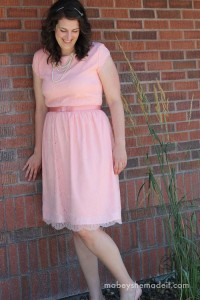Lengthening a Dress   Mabey She Made It   #sewing #lengtheningadress #tutorial