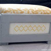 Hand-painted Ottoman Makeover