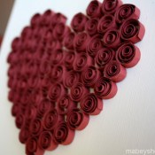 Quilled Heart Décor