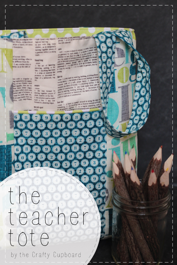 Teacher Tote Tutorial at Mabey She Made It Back to school and teacher appreciation gift