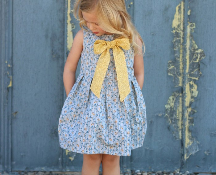 Tuileries Dress   Mabey She Made It #sewing #kidsclothes #kidsclothesweek