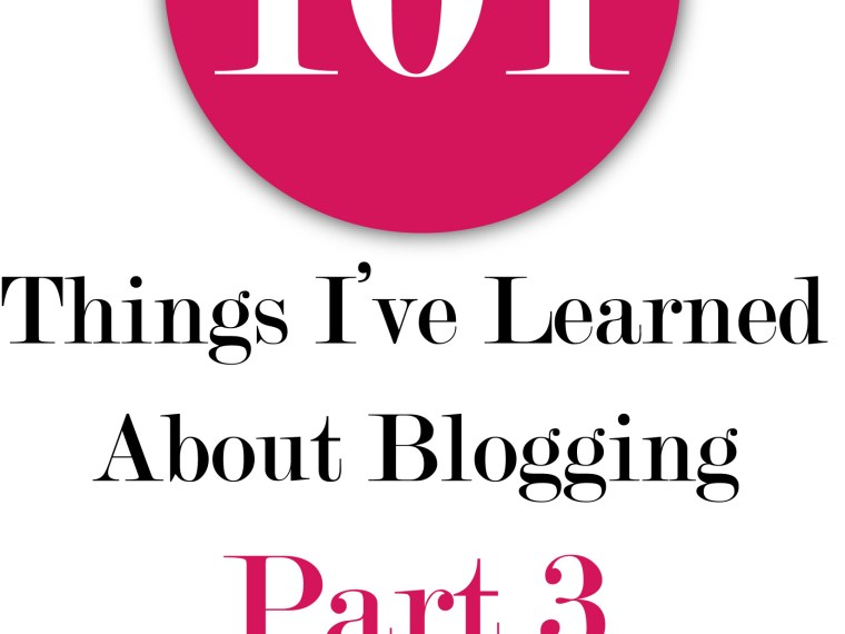 101 Things I've Learned About Blogging   Mabey She Made It   #blogging #bloggingtips