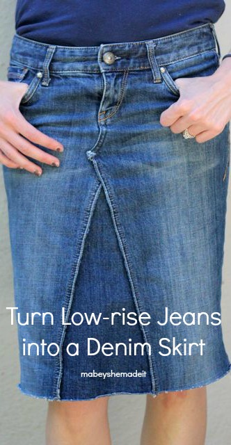 How to make a skirt out of jeans