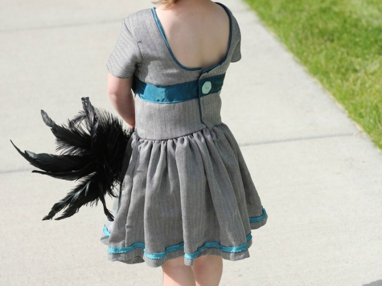 Matinee Dress | Mabey She Made It | #matineedress #sewingforkids #jennuinedesign