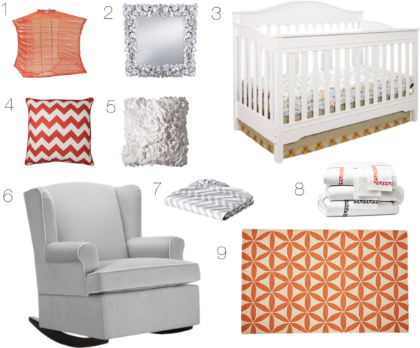 Nursery Inspiration Mood Board | Mabey She Made It | #nursery #homedecor #coralnursery