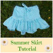 How to Make an Easy Summer Skirt for Girls