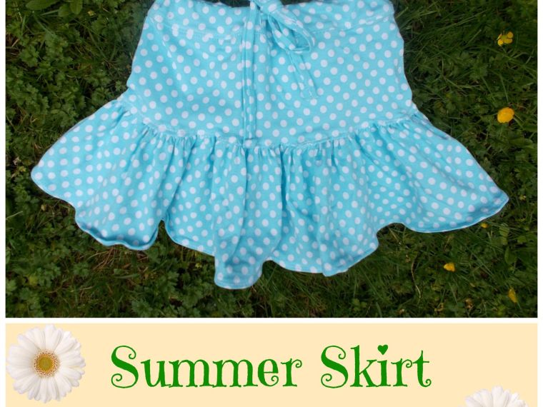Easy Summer Skirt Tutorial by On the Cutting Floor   Mabey She Made It   #skirt #sewingforkids #summer