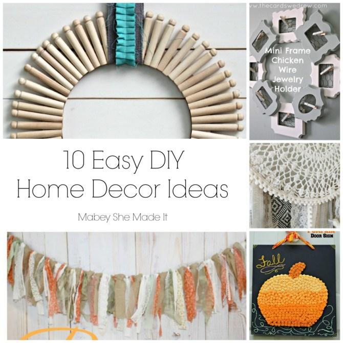 Fun Home Ideas: 10 Fun Home Decor Ideas • Mabey She Made It