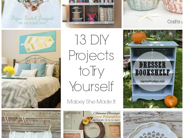 13 DIY Projects to Try | Mabey She Made It | #DIY #crafts #papercrafting #furniture #pumpkin #stencil #towels