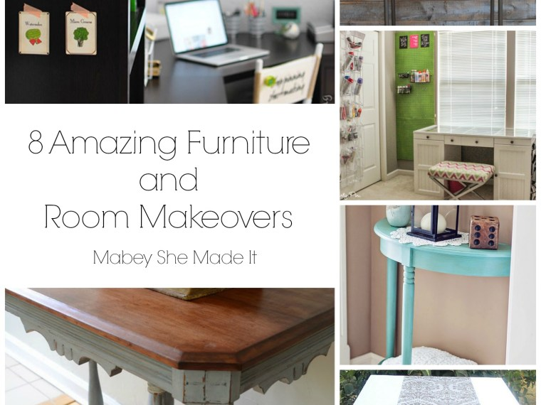 8 Amazing Furniture and Room Makeovers | Mabey She Made It | #makeover #furniture #decorating