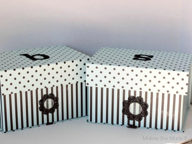 Personalized Treasure Box | Mabey She Made It | #glitter #treasurebox #personalization #monogram
