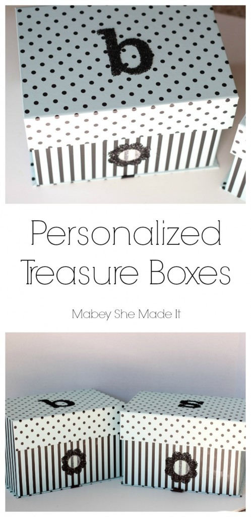 Personalized Treasure Box   Mabey She Made It   #glitter #treasurebox #personalization #monogram