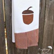 Acorn Tea Towel Freezer Paper Stencil Tutorial