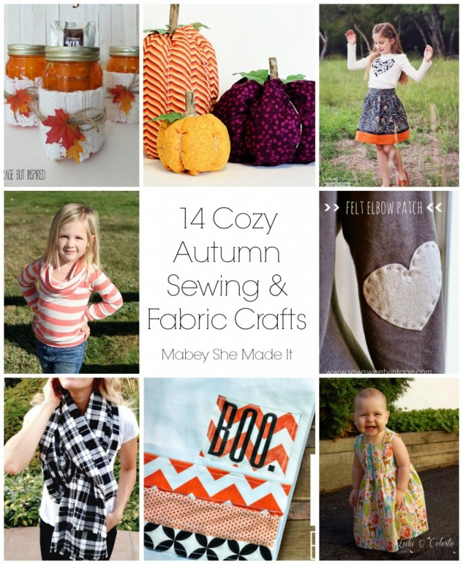 14 Cozy Autumn Sewing Projects | Mabey She Made It | #sewing #autumn #fallcrafts #sewingforkids #pumpkin #sweater