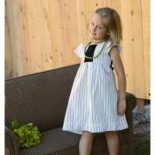 Refashioned Pinstripe Dress