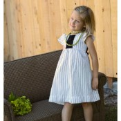 Refashioned Pinstripe Dress