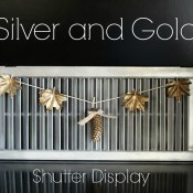 Silver and Gold Shutter Display
