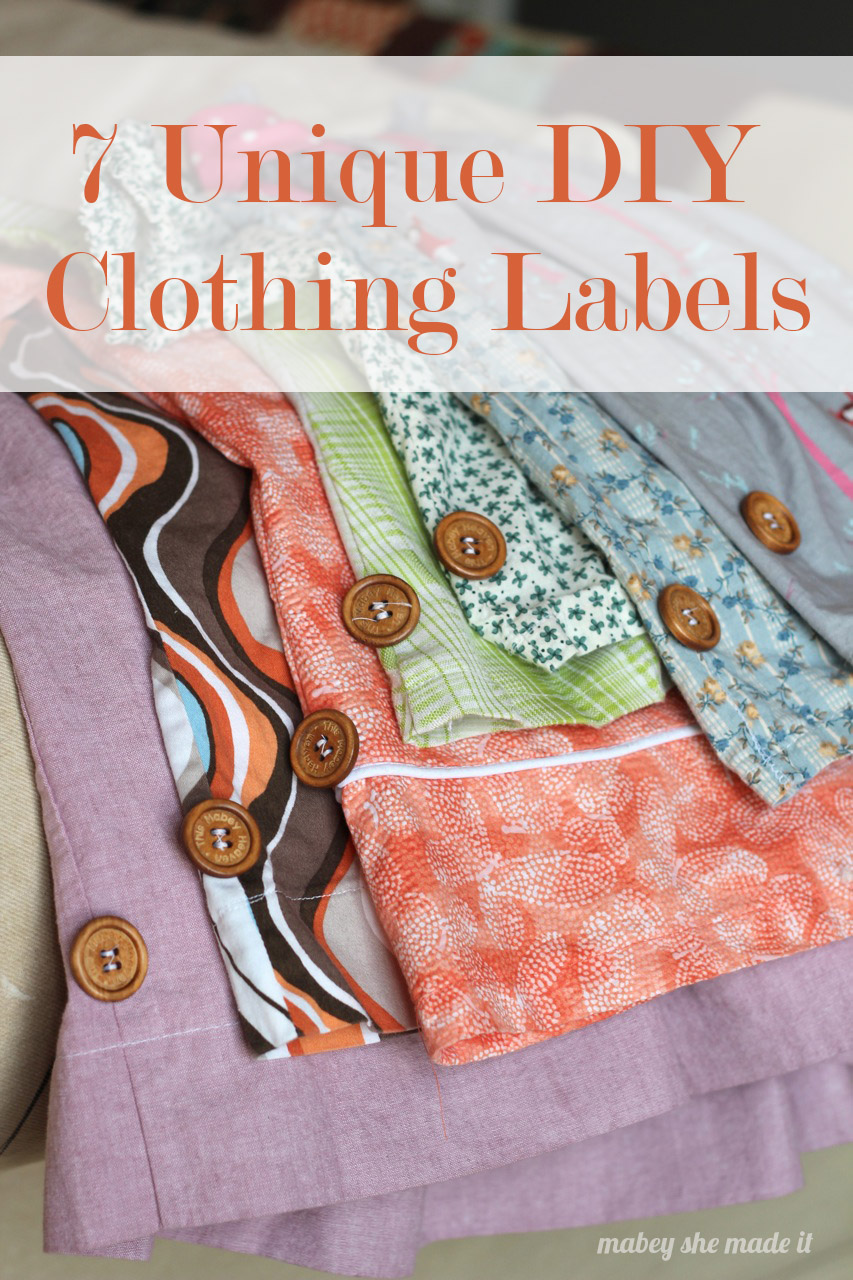 7 Unique DIY Clothing Labels Mabey She Made It
