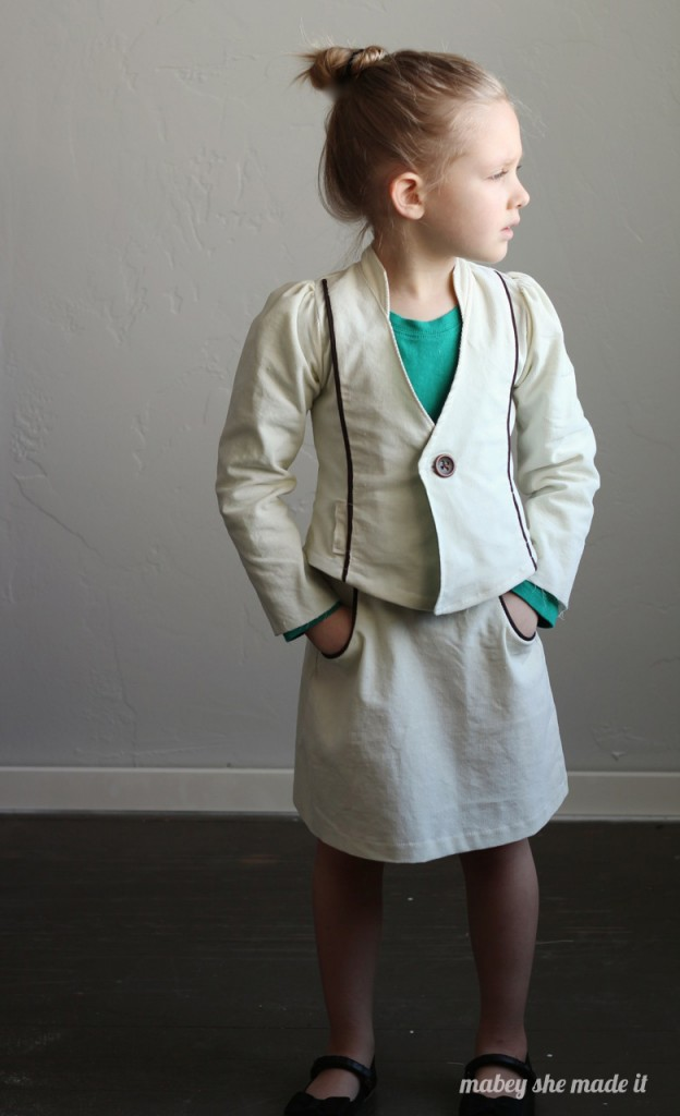 Mini Mod Corduroy Suit Girls Bundle Up Tour | Mabey She Made It |#sewing #sewingforkids #isew #