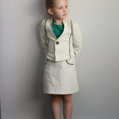 Mini Mod Corduroy Suit: Girls Bundle Up Blog Tour