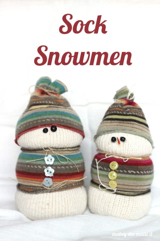 All you need for these adorable sock snowmen are a couple of socks and embellishments! So simple and cute for winter.