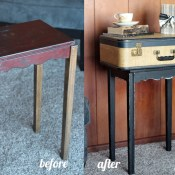 Vintage Suitcase Table Makeover